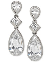 Arabella Swarovski Zirconia Triple Drop Earrings In Sterling Silver