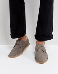 Zign Suede Lace Up Shoes Grey