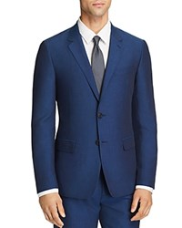 Theory Tailored Linen Blend Slim Fit Suit Jacket Royal Blue