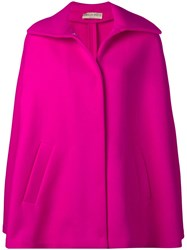 Emilio Pucci Double Face Wool Cape Pink