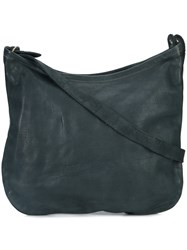 Guidi Textured Shoulder Bag Unisex Horse Leather One Size Blue