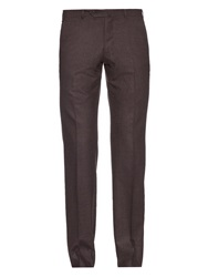 Ermenegildo Zegna Micro Check Wool Blend Trousers