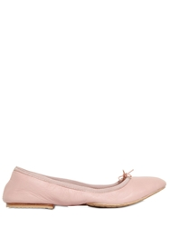 Bloch Nappa Leather Roll Up Ballerina Flats Pink