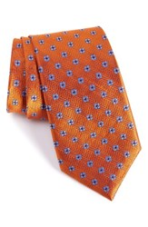 Nordstrom Men's Men's Shop Harry Neat Medallion Silk Tie Orange