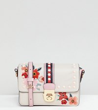 Accessorize Embroidered Studded Cross Body Bag Multi