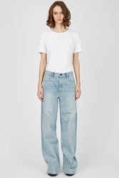 Denim X Alexander Wang Rave Wide Leg Denim Bleached
