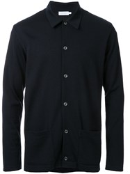 Sunspel Patch Pockets Cardigan Black