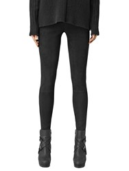 Allsaints Tiya Suede Leggings Black