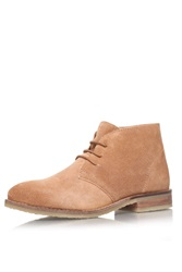 Tan Flat Lace Up Ankle Boots By Miss Kg