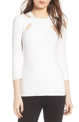 Bailey 44 Orchid Cutout Top Chalk