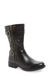 Brn Women's B Rn 'Eerie' Engineer Boot Black Grey Leather