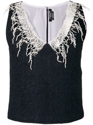 Calvin Klein 205W39nyc Embroidered Detail Top Blue