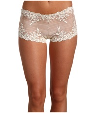 Wacoal Embrace Lace Boyshort Natural Nude Ivory Women's Underwear White