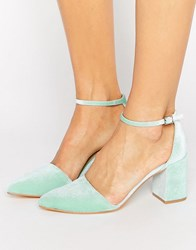 Truffle Collection 2Part Heel Shoe Mint Silver