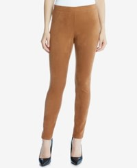 Karen Kane Faux Suede Leggings Tan