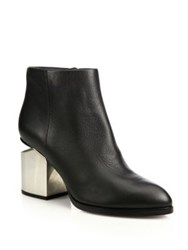 Alexander Wang Gabi Leather Block Heel Booties Black