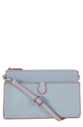Lodis Audrey Under Lock And Key Vicky Convertible Leather Crossbody Bag Blue Blue Tangerine