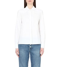 Maje Cigale Braided Detail Cotton Shirt Blanc