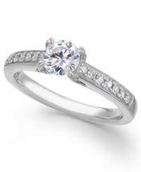 X3 Certified Diamond Engagement Ring In 14K White Gold 1 Ct. T.W.