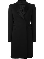 Tagliatore Shawl Collar Coat Black