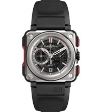 Bell And Ross Brx1 Ce Ti Red Titanium Rubber Chronograph Watch Black