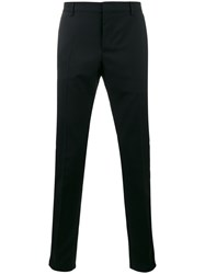 Valentino Tailored Trousers Men Cotton Polyester Mohair Wool 48 Black