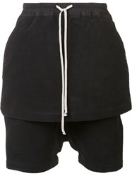 Rick Owens Drkshdw Skirt Layer Short Trousers Black