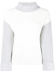 Peserico Ribbed Knit Sweater White