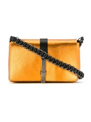 Reinaldo Lourenco Metallic Crossbody Bag Yellow And Orange
