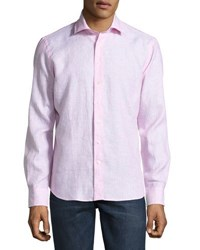 Neiman Marcus Linen Button Front Shirt Sailor