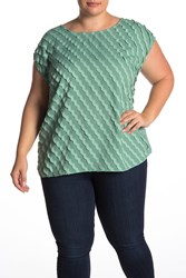 Vince Camuto Cap Sleeve Scallop Detail Blouse Plus Size Green Bay