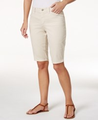 Nydj Christy Twill Bermuda Shorts Clay