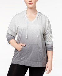 Ideology Plus Size Dip Dyed Hoodie Created For Macy's Noir Dip