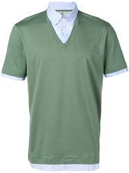 Brunello Cucinelli Button Down Polo Shirt Green