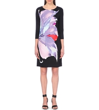 Hugo Boss Deflori Flower Printed Dress Multi