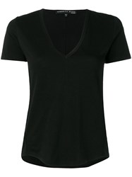 Veronica Beard V Neck T Shirt Black