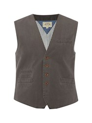 White Stuff Engineer Waistcoat Charcoal