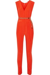 Eres Veronique Leroy Georges Silk Crepe Jumpsuit Papaya