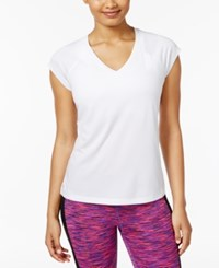Ideology Rapidry Heathered Performance T Shirt Only At Macy's Bright White