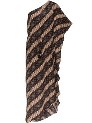 Figue Maisie Batik Print Striped Dress Javdi
