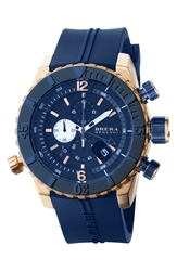 Brera 'Sottomarino' Chronograph Diver Watch 48Mm Blue Rose Gold