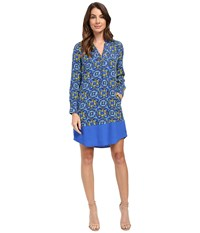 Hatley Shirtdress Moroccan Women's Dress Blue