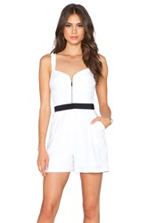 Milly Zip Front Romper White