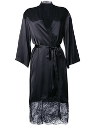 H Beauty And Youth Lace Detail Belted Coat Black