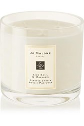 Jo Malone London Lime Basil And Mandarin Scented Deluxe Candle Colorless