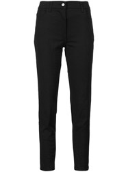 Jeremy Scott Slim Fit Cropped Trousers Black