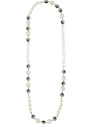 Chanel Vintage Embellished Faux Pearl Necklace White