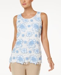 Charter Club Floral Lace Tank Top Only At Macy's Cloud