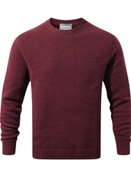 Craghoppers Men's Noa Waffle Knit Jumper Red