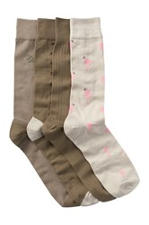 Tommy Bahama Flamingo Palm Crew Socks Pack Of 4 Beige